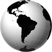 Globe With South America View