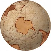 Globe With Antarctica View