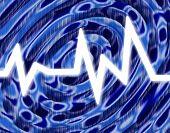 White Hot Sound Blue Wave Background