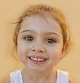 foto of overbite  - Smiling cute child portrait - JPG
