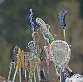 Girls Lacrosse Sticks To The Sky