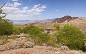 A Panorama Of Lake Meade And Surrounding Landscape Nevada.