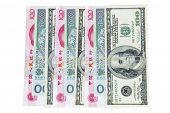 Chinese Rmb, American Dollars And Polish Zlotych poster