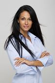 Beautiful woman,30 years old with long black hair