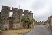 foto of panzer  - Destroyed Oradour sur Glane in the French Limousin - JPG