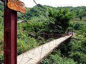 foto of hmong  - Cat Cat bridge in mountains near sapa - JPG
