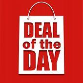 Negócio do cartaz dia com saco, ilustração vetorial
