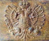 image of sceptre  - Belt buckle of the Austrian soldier - JPG