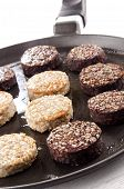 Black And White Pudding On A Pan