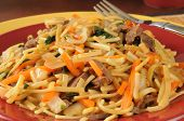 Beef Lo Mein Closeup