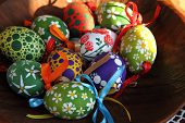 Color Easter Eggs (czech Tradition)