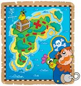 Treasure map topic image 4 - eps10 vector illustration.