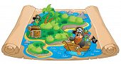 Treasure map topic image 1 - eps10 vector illustration.