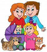 Family theme image 3 - eps10 vector illustration.