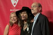 LOS ANGELES - JAN 24:  Caroline Smedvig, Steven Tyler, James Taylor at the 2014 MusiCares Person of the Year Gala at Los Angeles Convention Center on January 24, 2014 in Los Angeles, CA