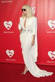 LOS ANGELES - JAN 24:  Lada Gaga at the 2014 MusiCares Person of the Year Gala in honor of Carole Ki