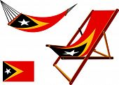 East Timor Hammock And Deck Chair Set