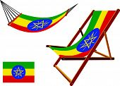 Ethiopia Hammock And Deck Chair Set
