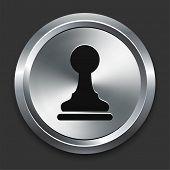 Pawn Icon on Metallic Button Collection