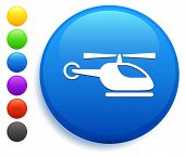 Helicopter Icon on Round Button Collection