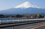 Mount Fuji On Bridge
