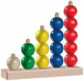 Wooden or plastic five colored abacus toy