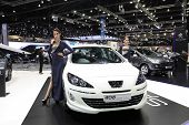 Nonthaburi - November 28: Peugeot 408 Sportium Car With Unidentified Model On Display At The 30Th Th