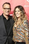 LOS ANGELES - JAN 24: Rita Wilson, Tom Hanks at the 2014 MusiCares Person Of The Year event at the C