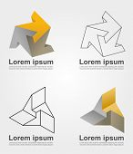 An illustration of impossible solid icons
