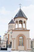 Krasnoyarsk,RU-Nov.10,2012:The Bell Tower of Armenian Apostolic Church in Nov,9 2012 in Krasnoyarsk