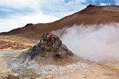 Hot Geothermal Area Hverir, Iceland