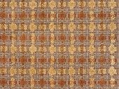 Fabric Boucle Of Brown And Yellow Colors
