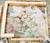 Playing Field Of Mahjong Board Game