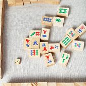 Top View Of Mahjong Desk Game