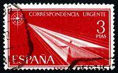 Postage Stamp Spain 1956 Flight, Paper Airplane