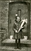 GERMANY, CIRCA FIFTIES - Vintage photo of little girl with
