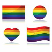 Rainbow Flag Set