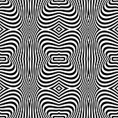 Seamless op art texture. Zebra pattern design. Vector art.