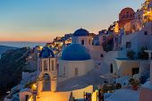 Detail of Oia at dawn