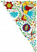 Moravian folk bird ornament