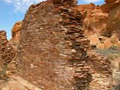 foto of pueblo  - Chaco Culture National Historic Park is located in northern New Mexico and features pueblo dwellings dating back 1 - JPG