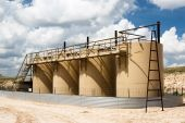 foto of crude-oil  - petroleum storage tanks in a gas field in Texas - JPG