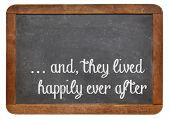 and, they lived happily ever after -  stock phrase for ending oral narratives or fairytale on a vint