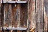 Old Barn Wood Door With Iron Hinges
