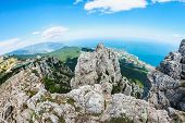 High Rocks Ai-petri Of Crimean Mountains