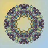 Circle Lace Hand-drawn Ornament Card