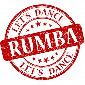 Rumba Red Vintage Grungy Isolated Round Stamp
