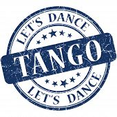 Tango Blue Vintage Grungy Isolated Round Stamp