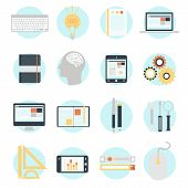 Flat Design Modern Vector Illustration Icons Set