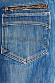 Blue Jeans Back Pocket. Beautiful Casual Style